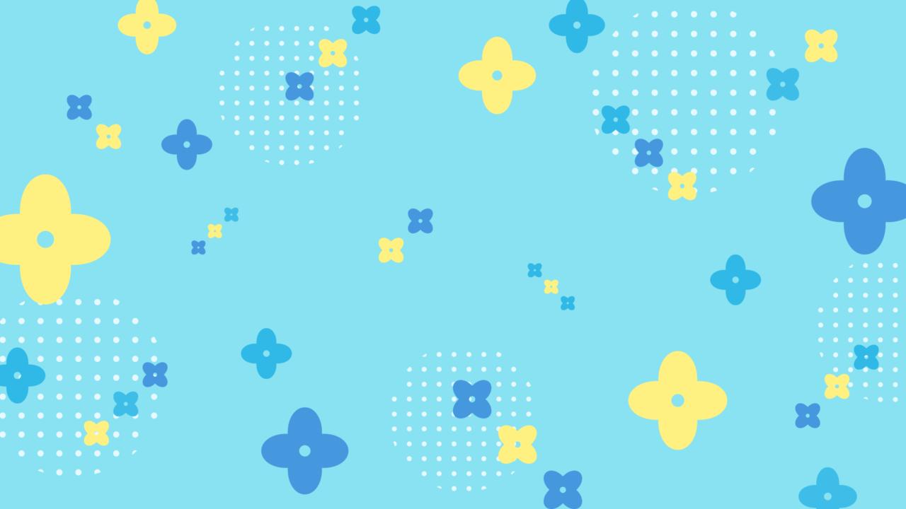 ビタミンカラーな花柄ブルー
