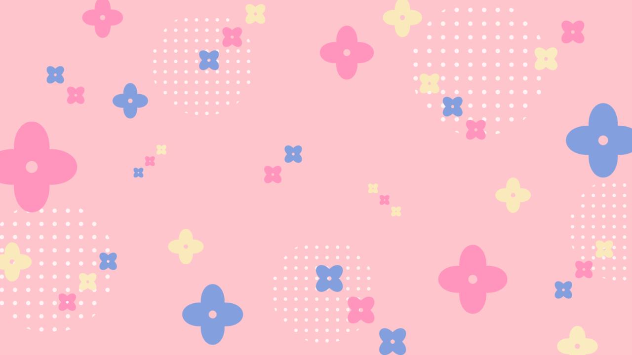 ビタミンカラーな花柄ピンク