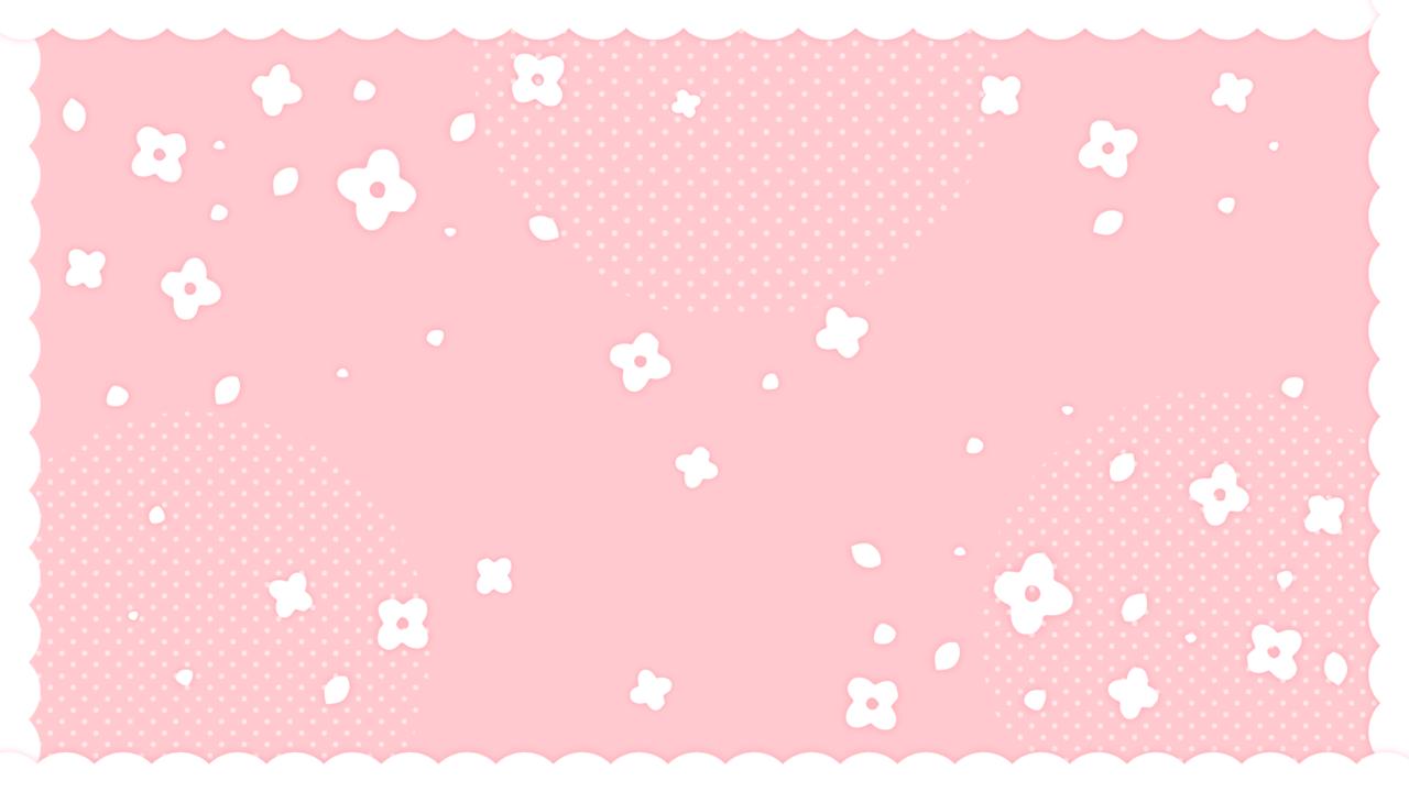 フリルつきかわいい小花柄ピンク