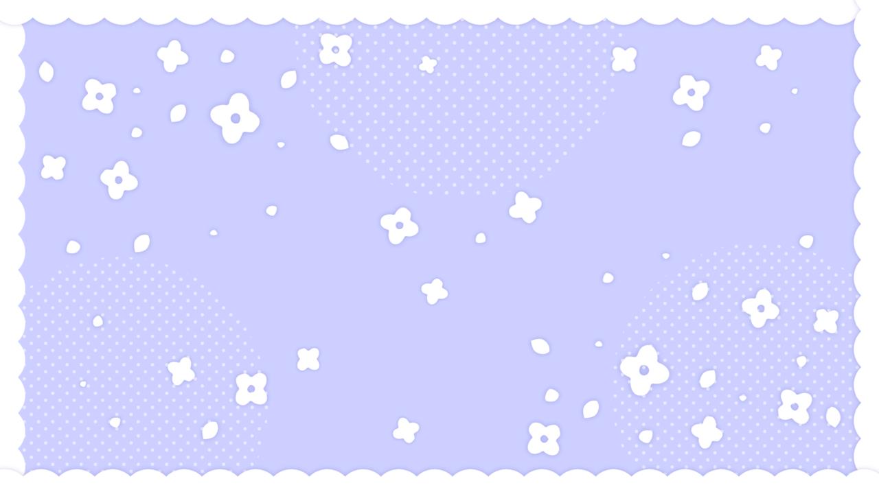 フリルつきかわいい小花柄パープル
