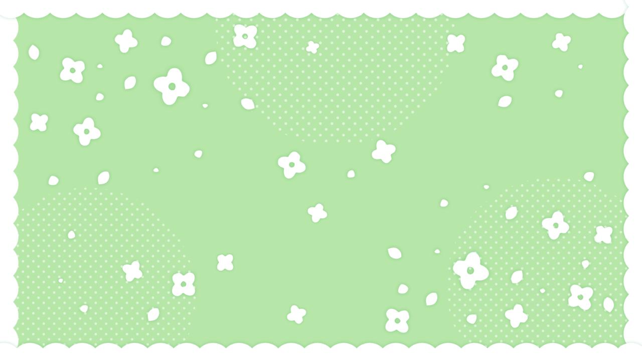 フリルつきかわいい小花柄グリーン