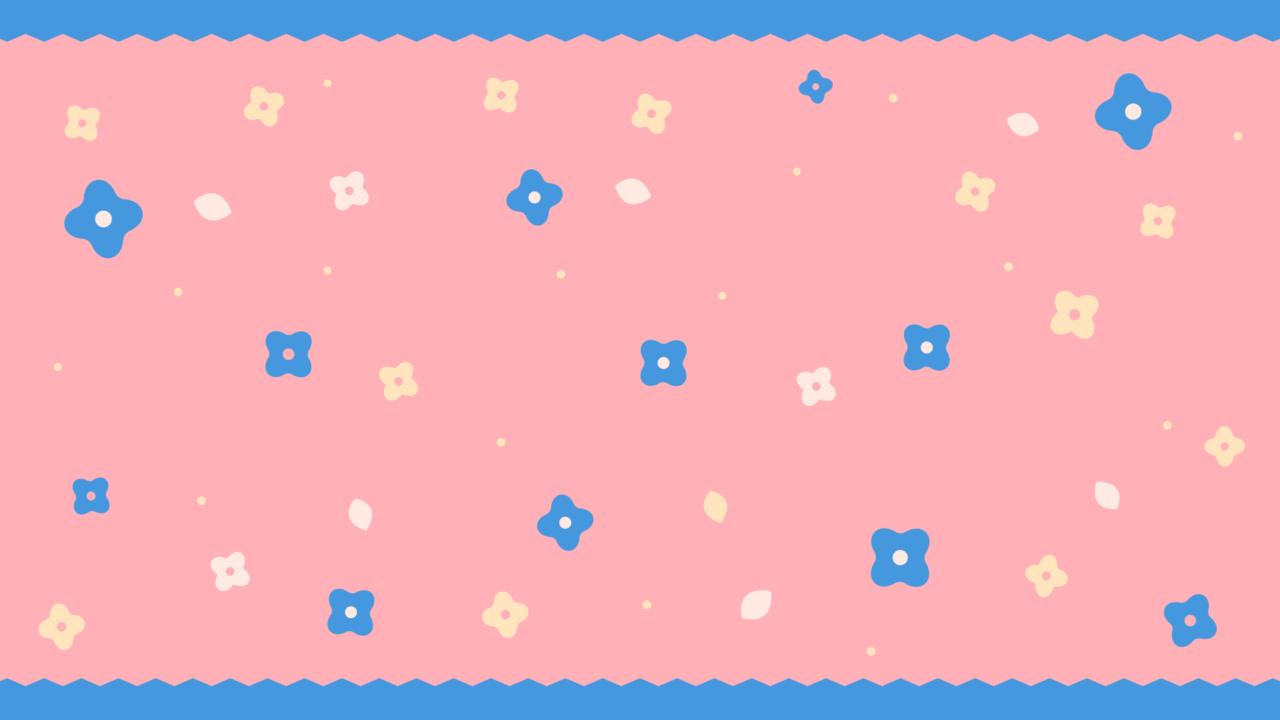 ガーリーな小花柄ピンク