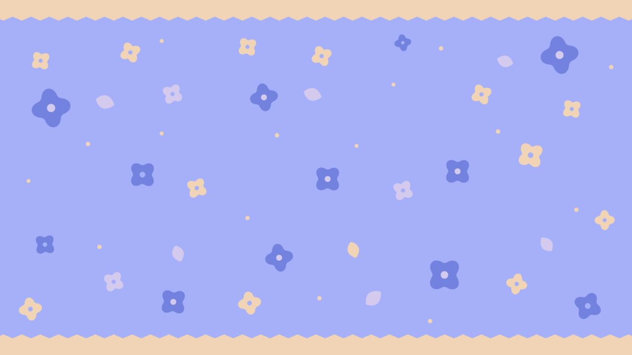 ガーリーな小花柄ブルー