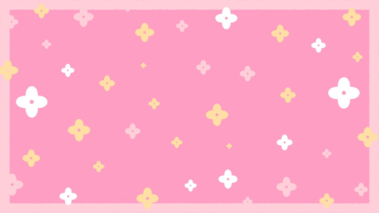 お花のシンプルパターンピンク