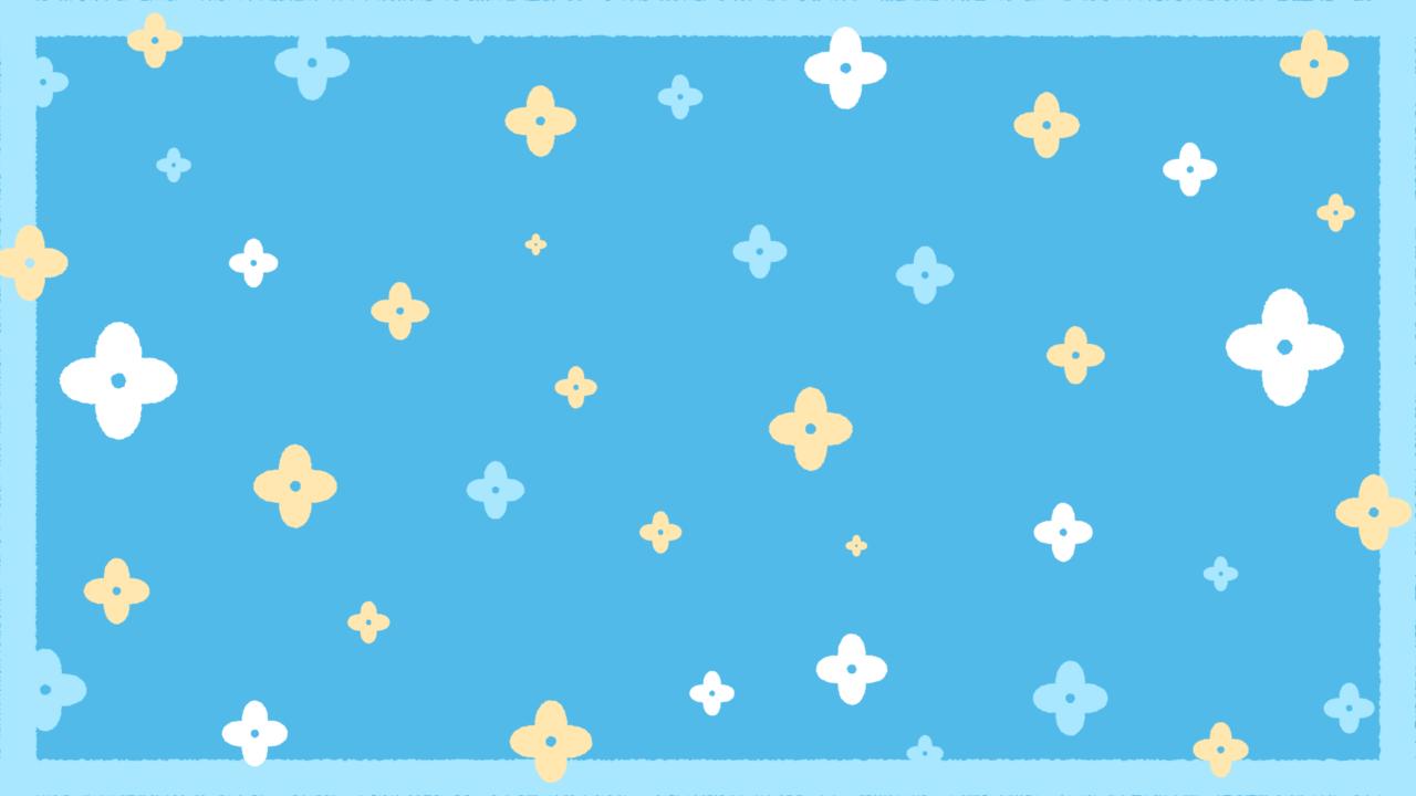 お花のシンプルパターンブルー