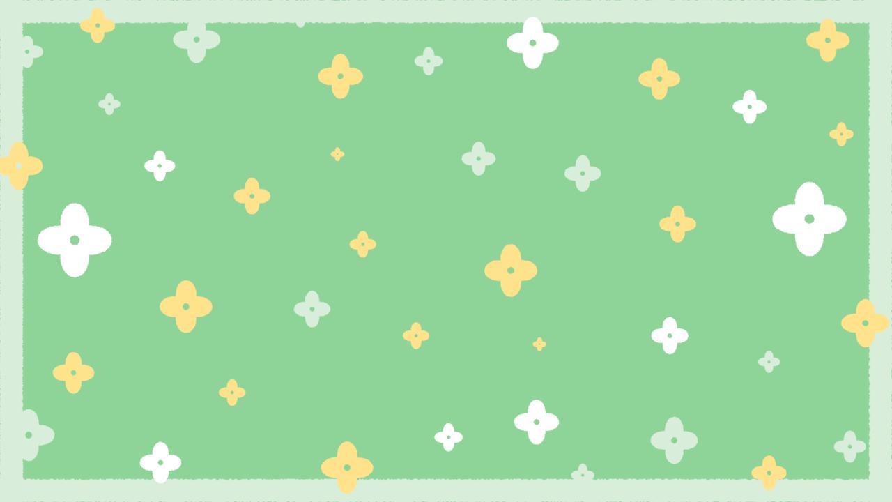 お花のシンプルパターングリーン