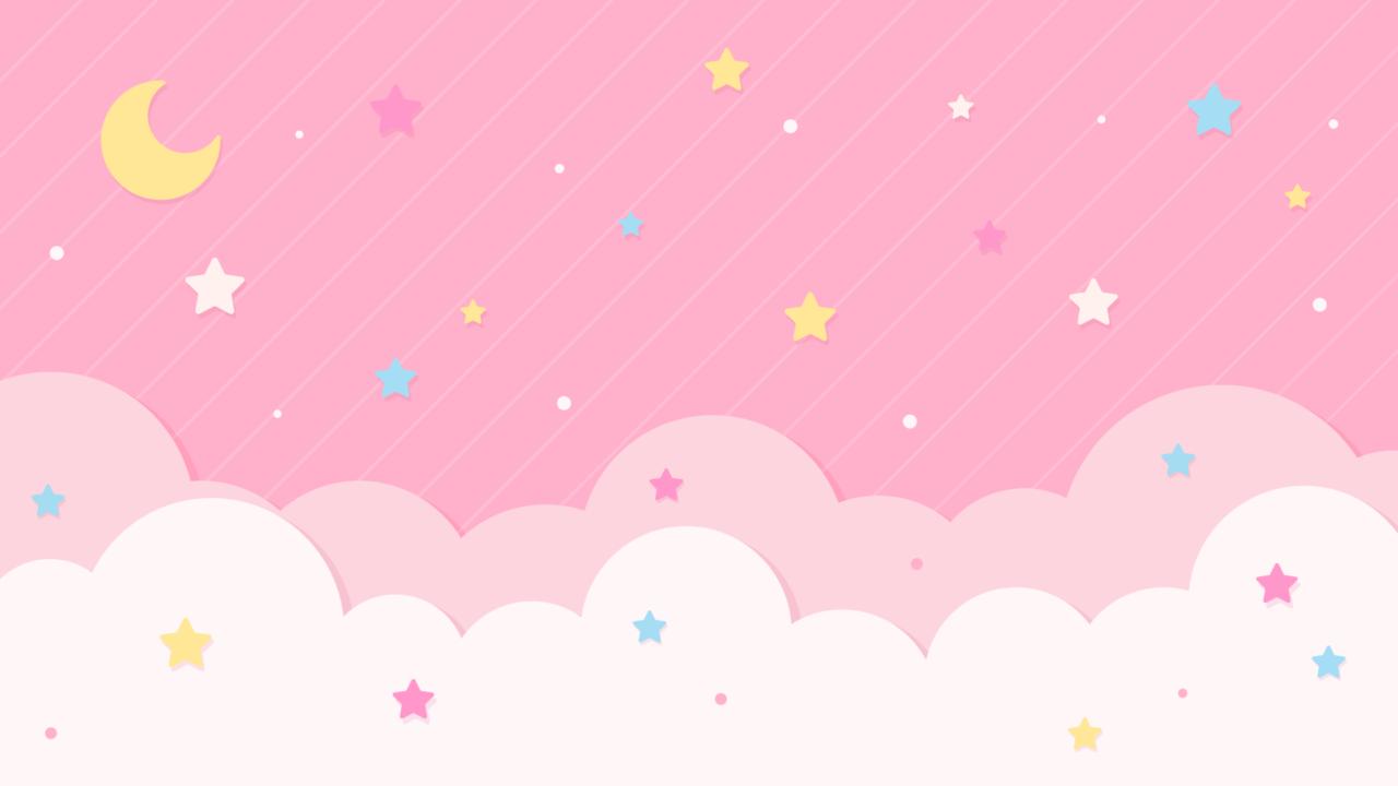 星空のデザイン背景素材ピンク