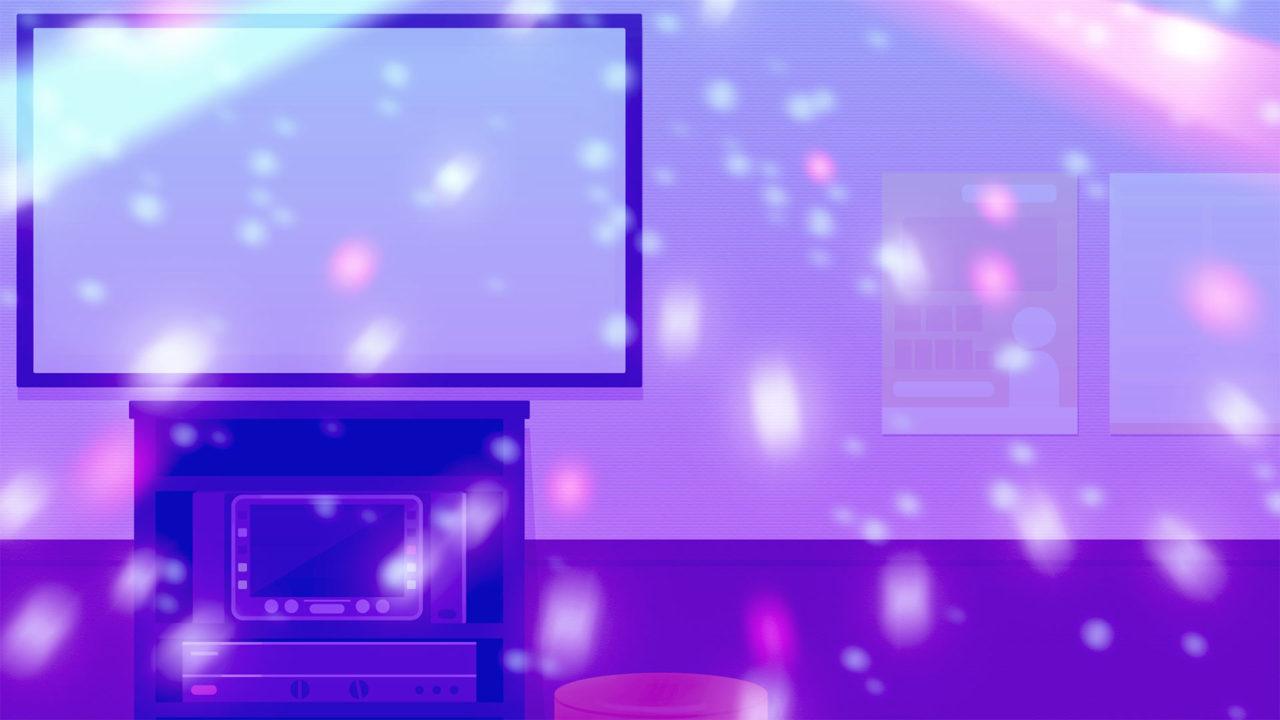 ライトありのカラオケルームな背景素材パープル