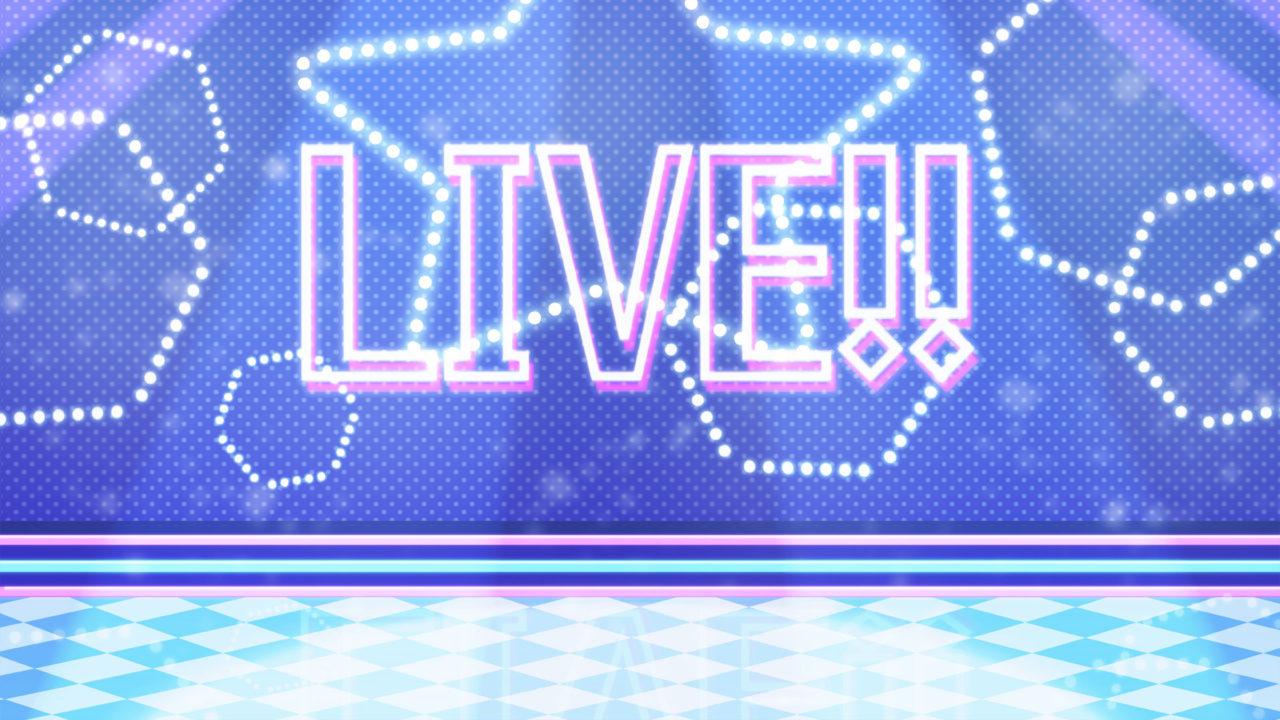 ライブステージの背景素材ブルー